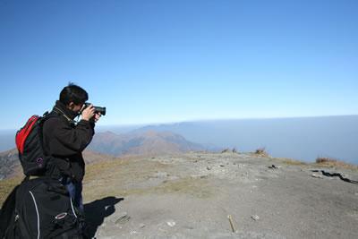 一个人旅行风景图片